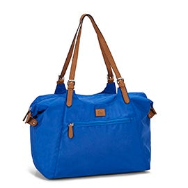 Roots Women's R4700 royal nylon large tote bag