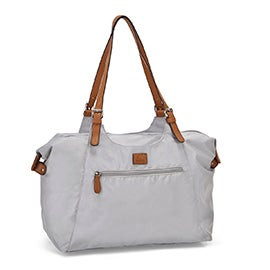 Roots Women's R4700 stone nylon large tote bag