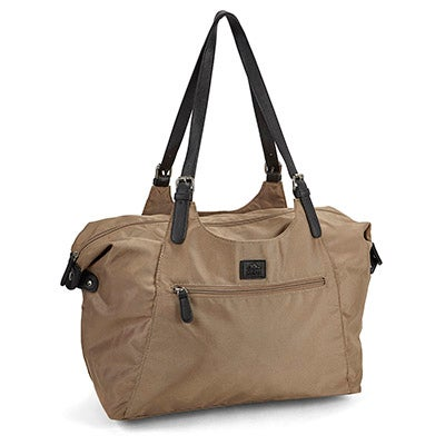 Roots Women's R4700 Roots73 taupe large tote bag
