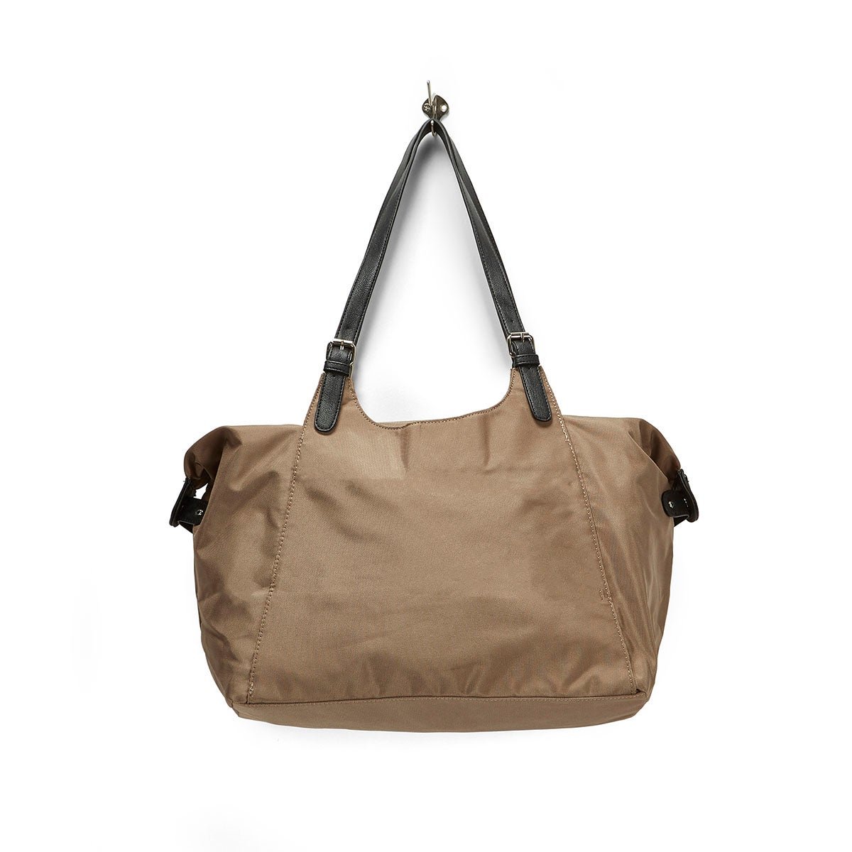 Lds Roots73 taupe nylon large tote bag