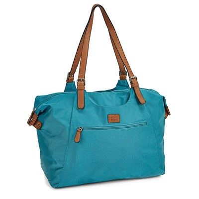Roots Women's R4700 turqoise large tote bag