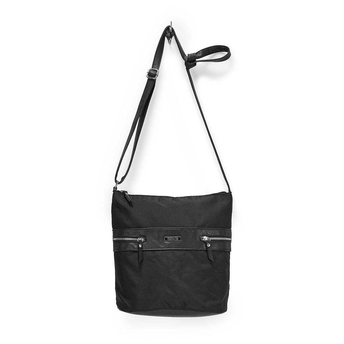 Lds Roots73 blk pebble hobo bag