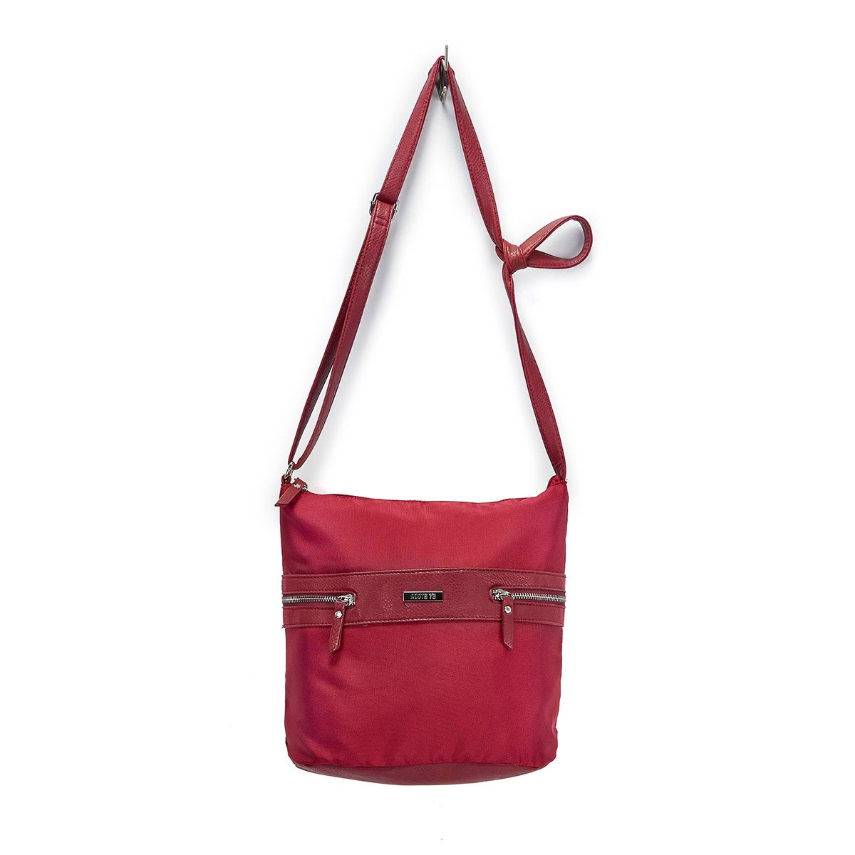 Lds Roots73 red pebble hobo bag