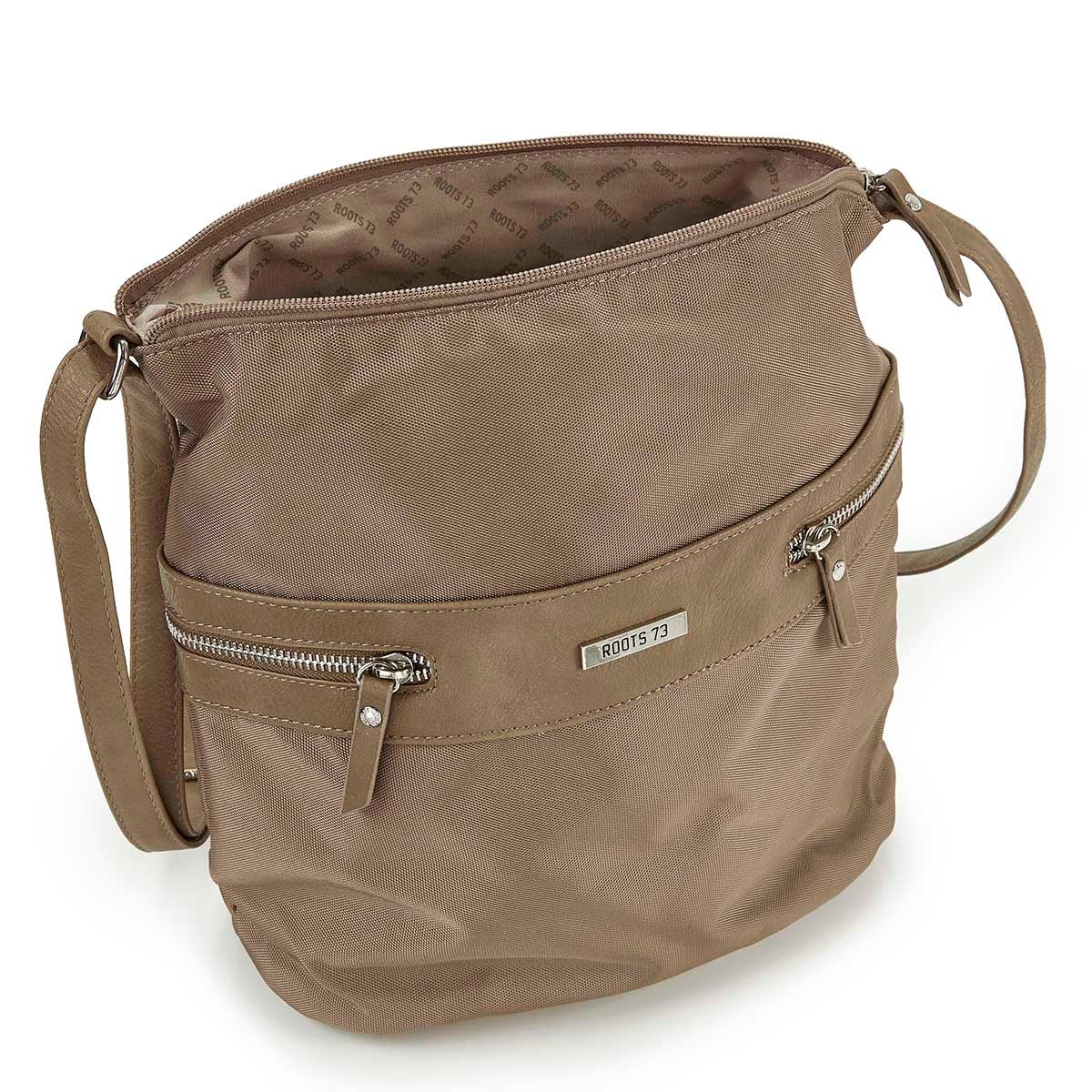 Lds Roots73 taupe pebble hobo bag