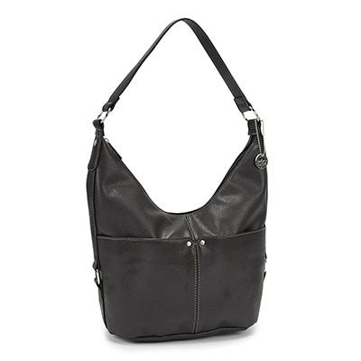 Roots Women's R4761 black belted hobo bag