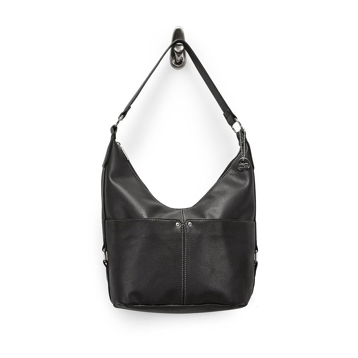 Lds Roots73 black belted hobo bag