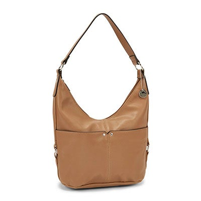 Roots Women's R4761 camel belted hobo bag