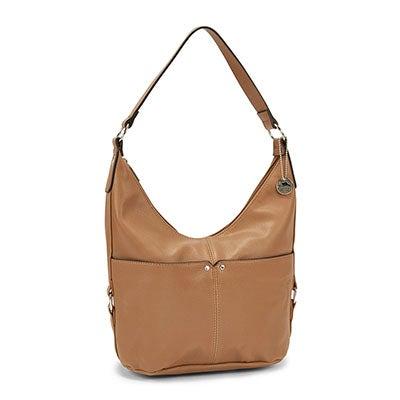 Lds Roots73 camel belted hobo bag