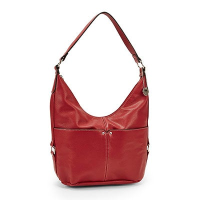 Roots Women`s R4761 red belted hobo bag