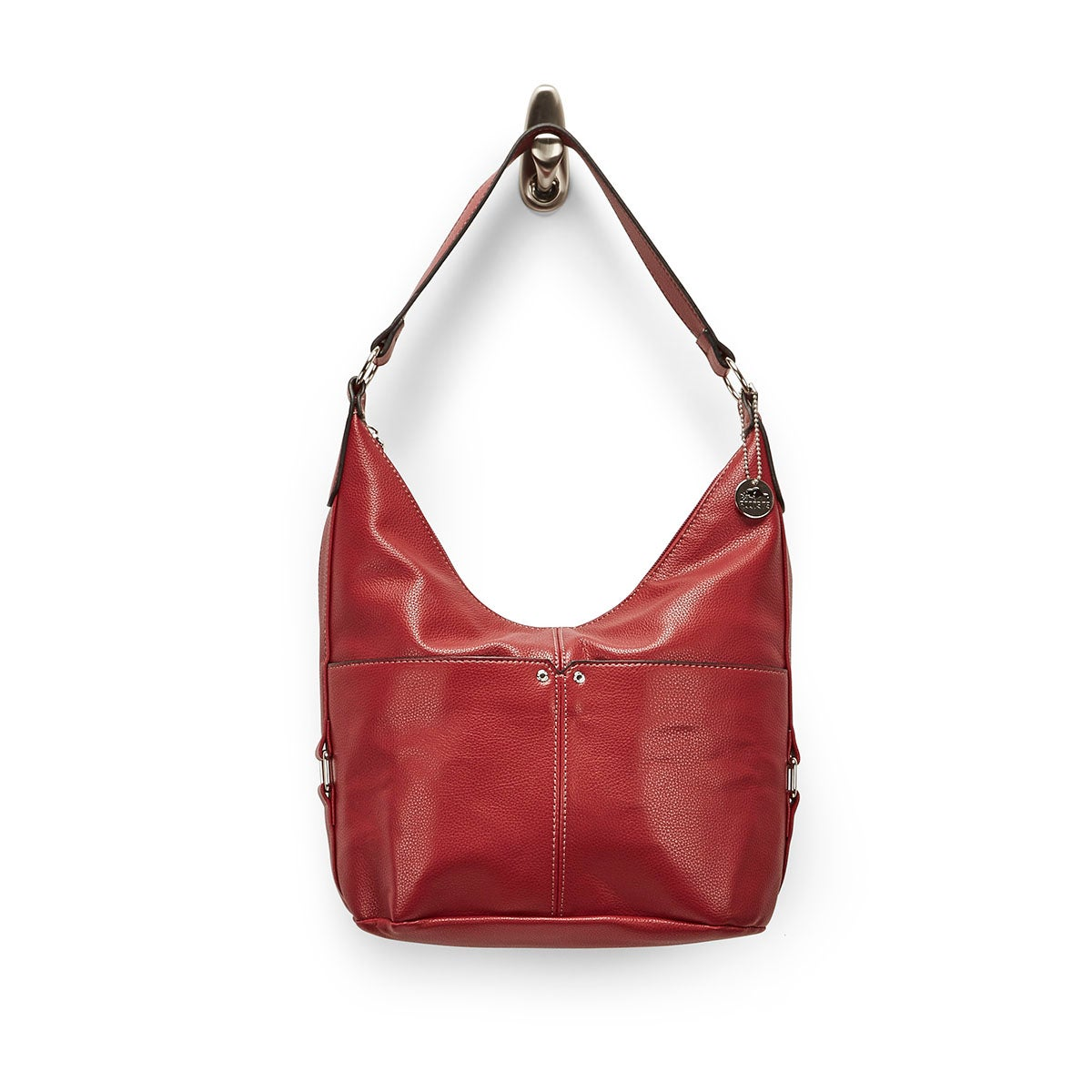 Lds Roots73 red belted hobo bag