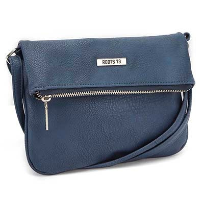 Roots Women's ROOT73 R4764 denim fold down crossbody bag