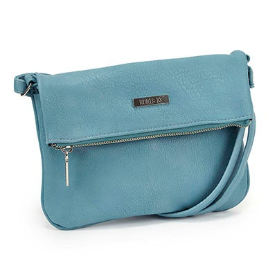 Roots Women's ROOT73 R4764 light blu fold down crossbody