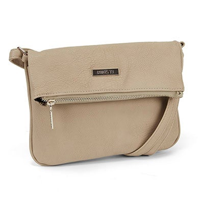 Roots Women's ROOT73 R4764 stone fold down crossbody bag