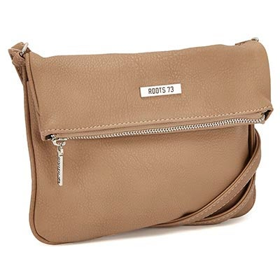 Roots Women's ROOT73 R4764 taupe fold down crossbody bag