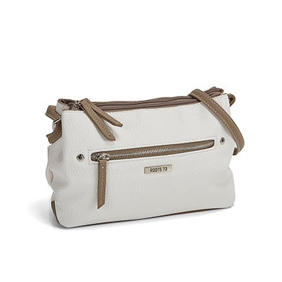 Roots Women's ROOTS73 R4765 white cross body bag