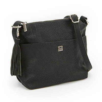 Roots Women's R4768 black  tasseled cross body bag