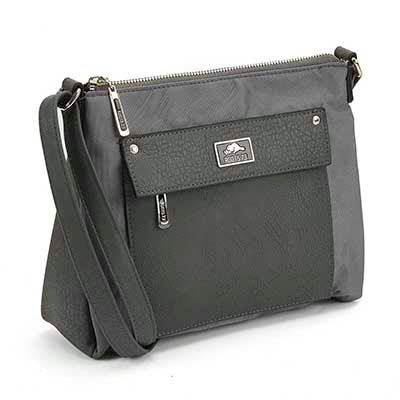 Roots Women's R4787 grey east west cross body bag