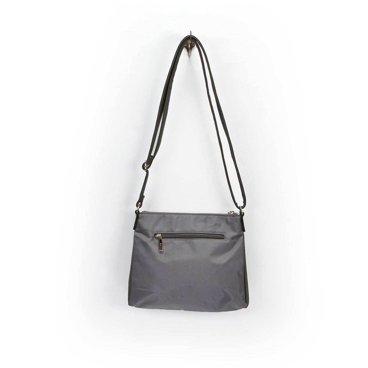 Lds grey east west cross body bag