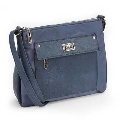 Roots Women's R4787 navy east west cross body bag