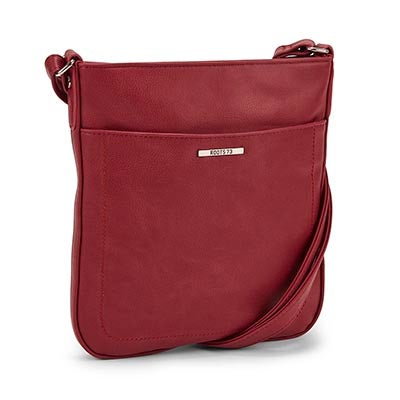 Roots Women's R4794 bordeaux north south crossbody bag