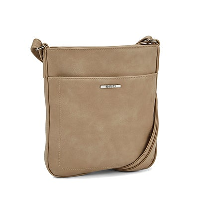 Roots  Women's R4794 taupe north south crossbody bag