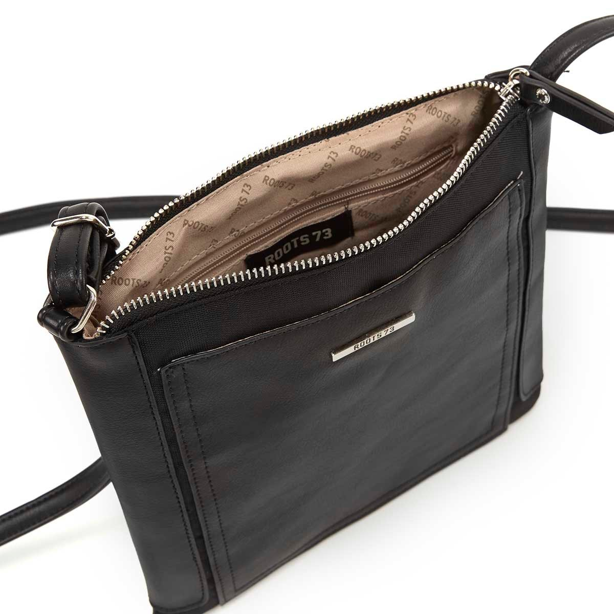 Lds Roots73 blk north south crossbody