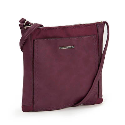 Roots Women's purple north south crossbody bag