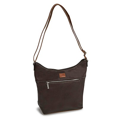 Roots Women's ROOT73 R4807 brown north/south zip hobo