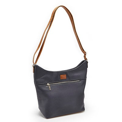 Roots Women's ROOTS73 R4807 navy north/south zip hobo