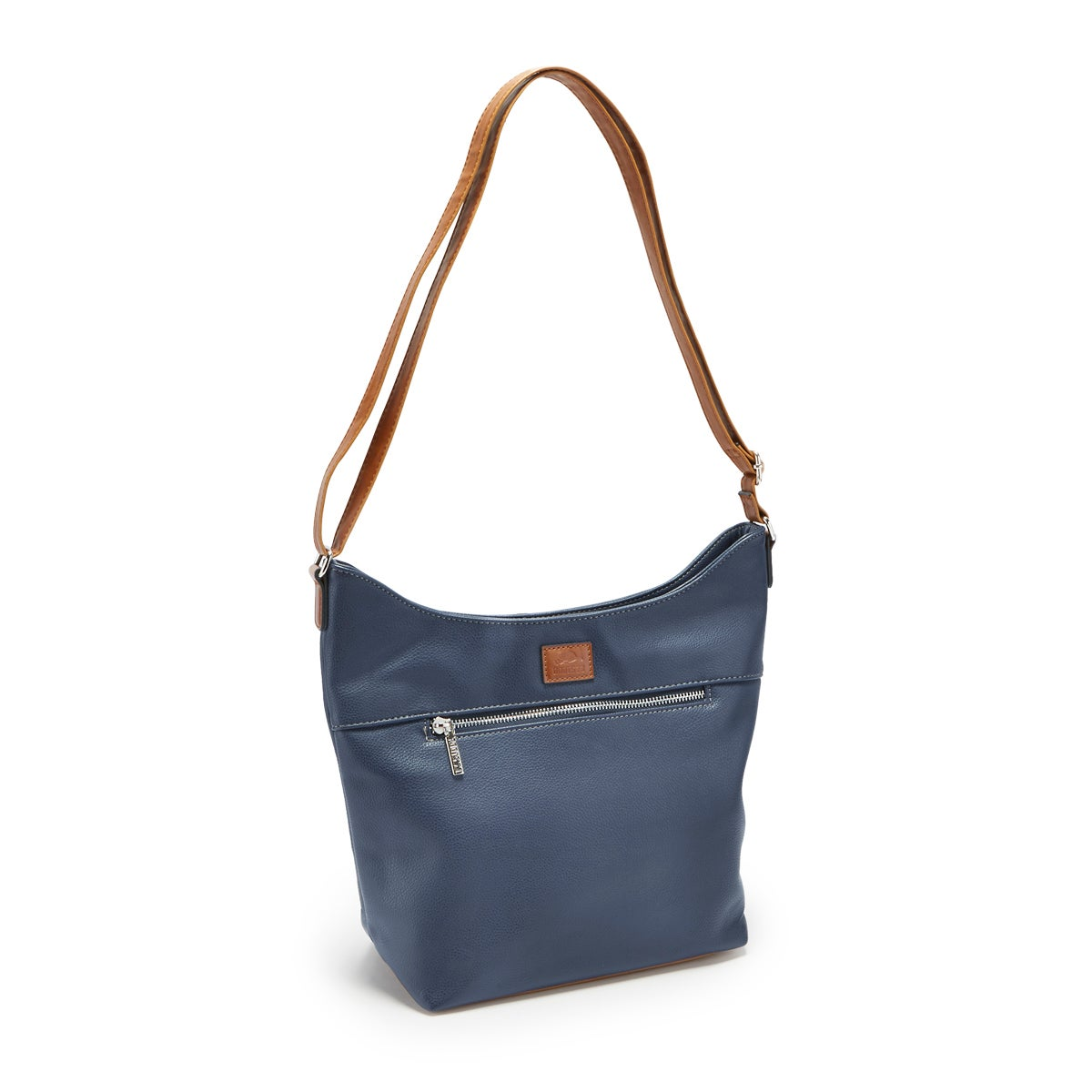 Lds Roots73 nvy north/south zip hobo bag