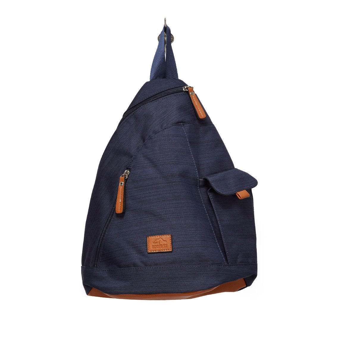 Roots navy textured sling backpack