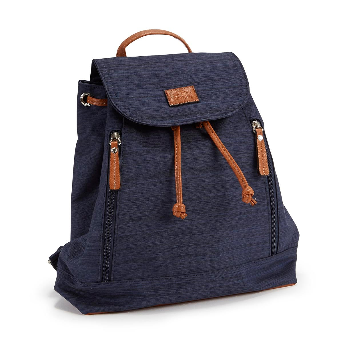 Lds navy textured mini backpack