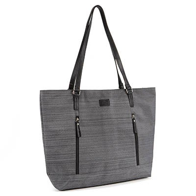 Lds grey textured business tote