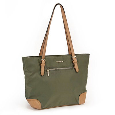 Lds khaki/camel large satchel