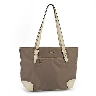 Roots Women's stone/ivory large satchel