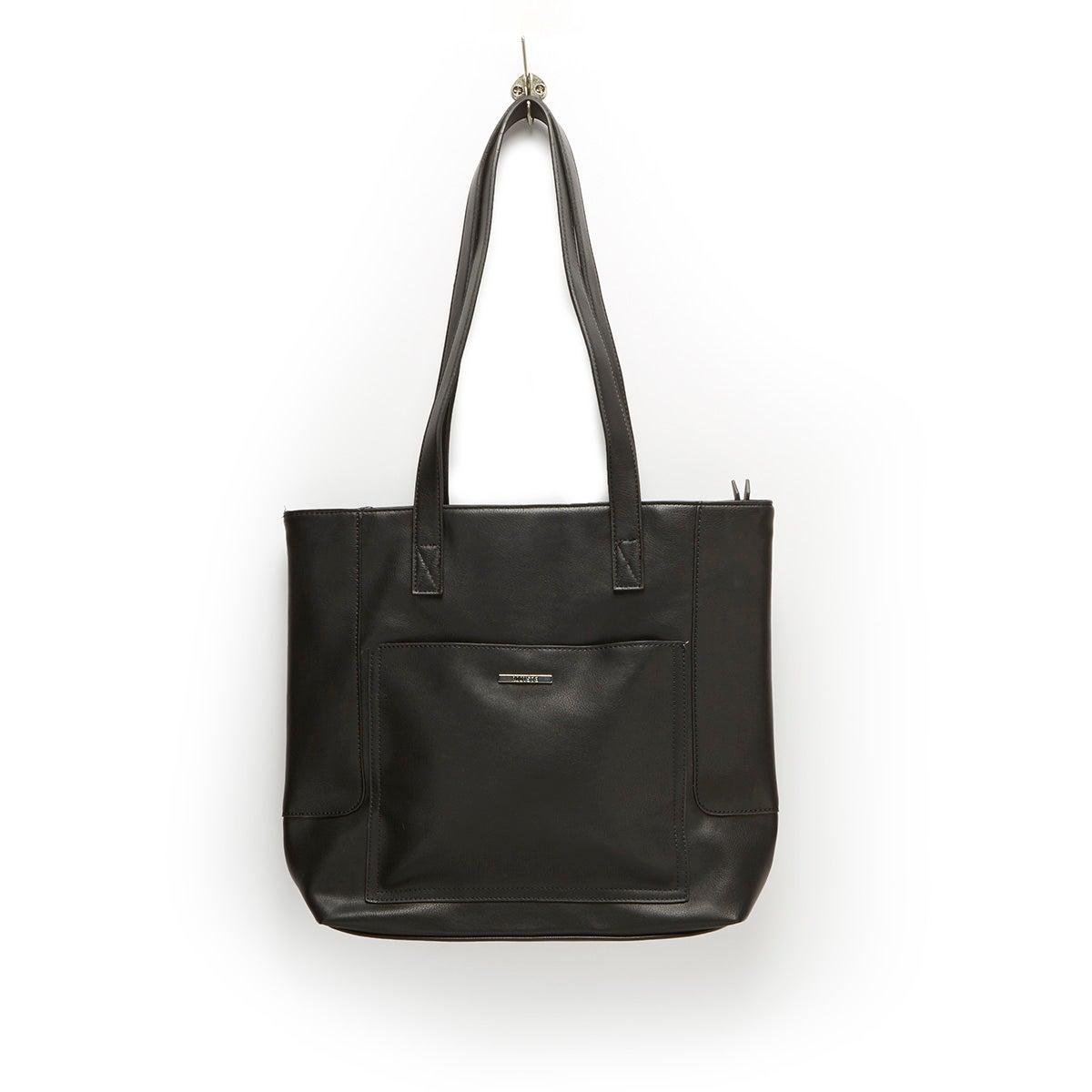 Lds Roots73 black large top zip satchel