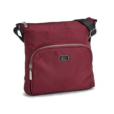 Lds burgundy rounded pocket crossbody