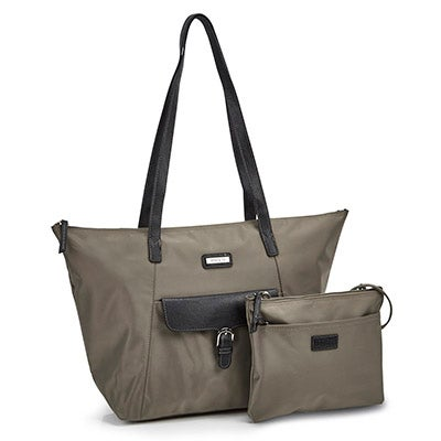 Roots Women's ROOTS73 R4866 khaki 2 in 1 tote bag