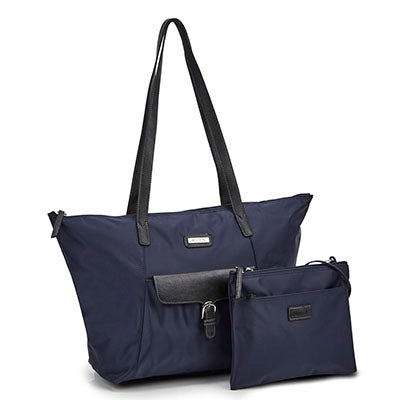 Roots Women's ROOTS73 R4866 navy 2 in 1 tote bag