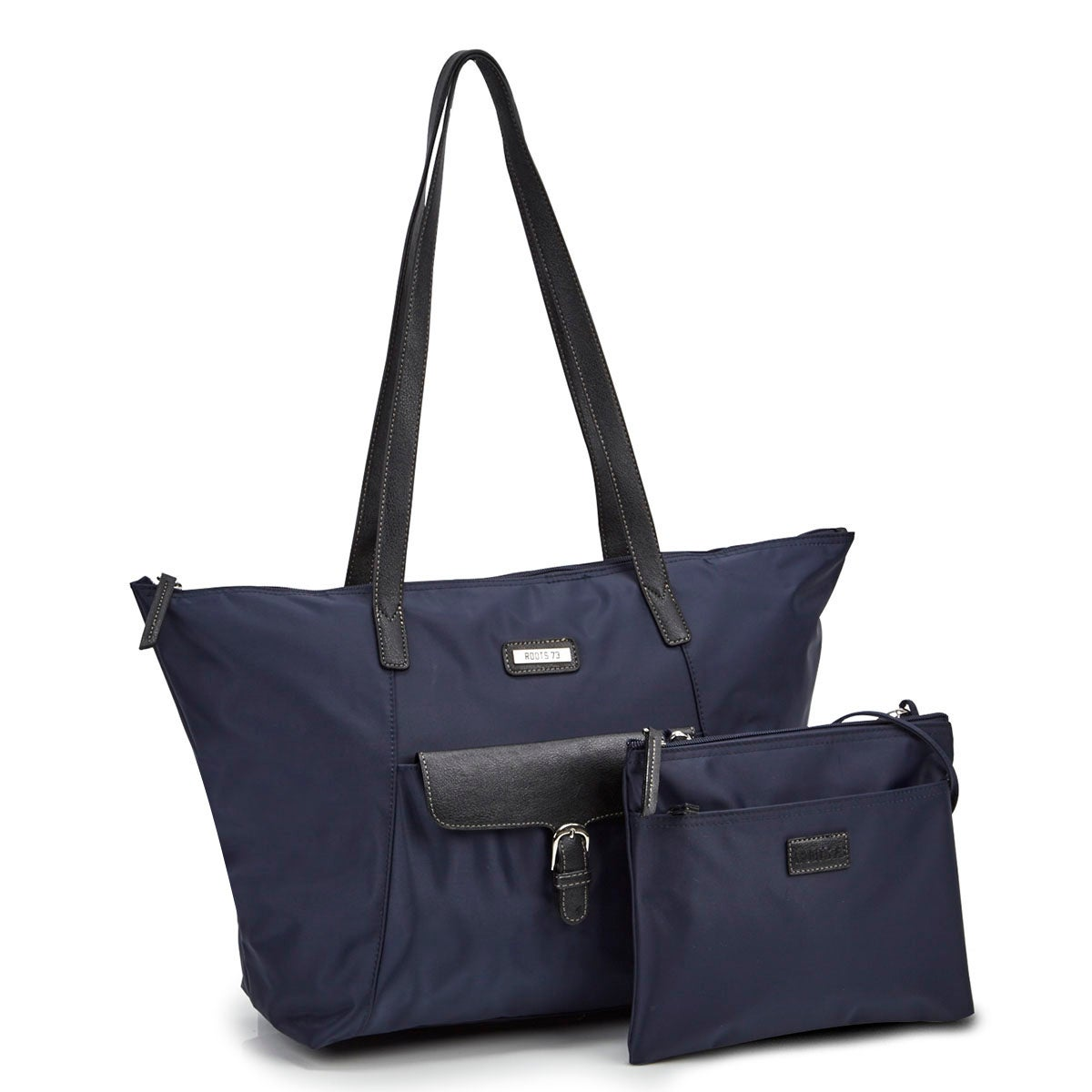 Women's ROOTS73 R4866 navy 2 in 1 tote bag