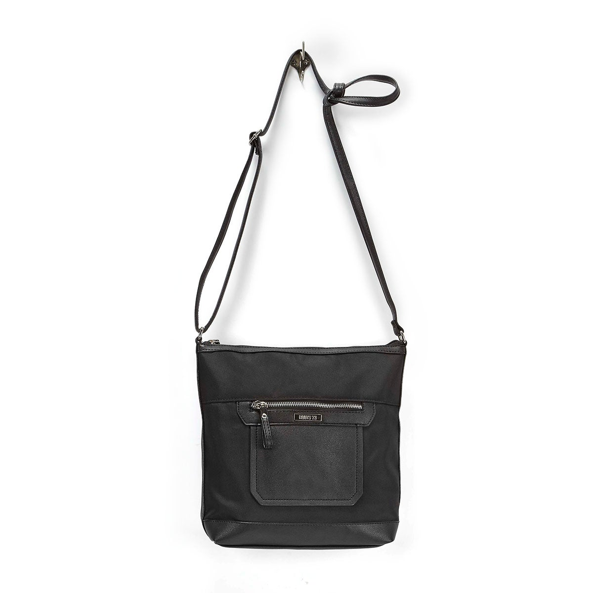 Lds Roots73 black front pocket crossbody