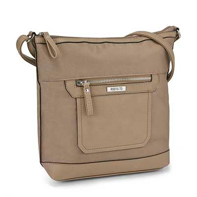 Roots Women's ROOTS73 R4868 mocha crossbody bag