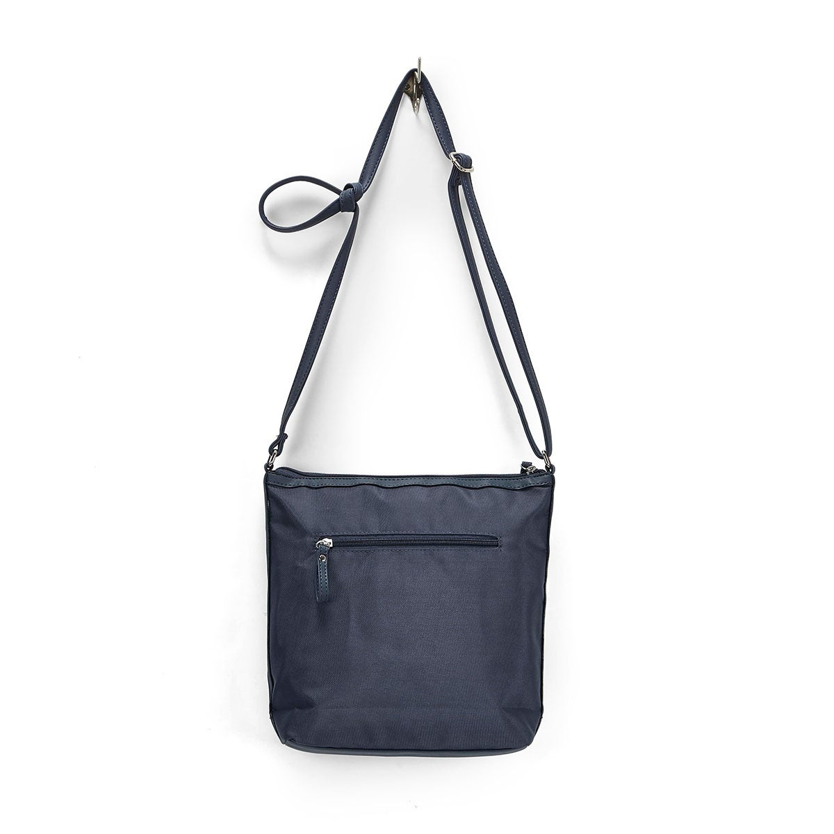 Lds Roots73 navy front pocket crossbody
