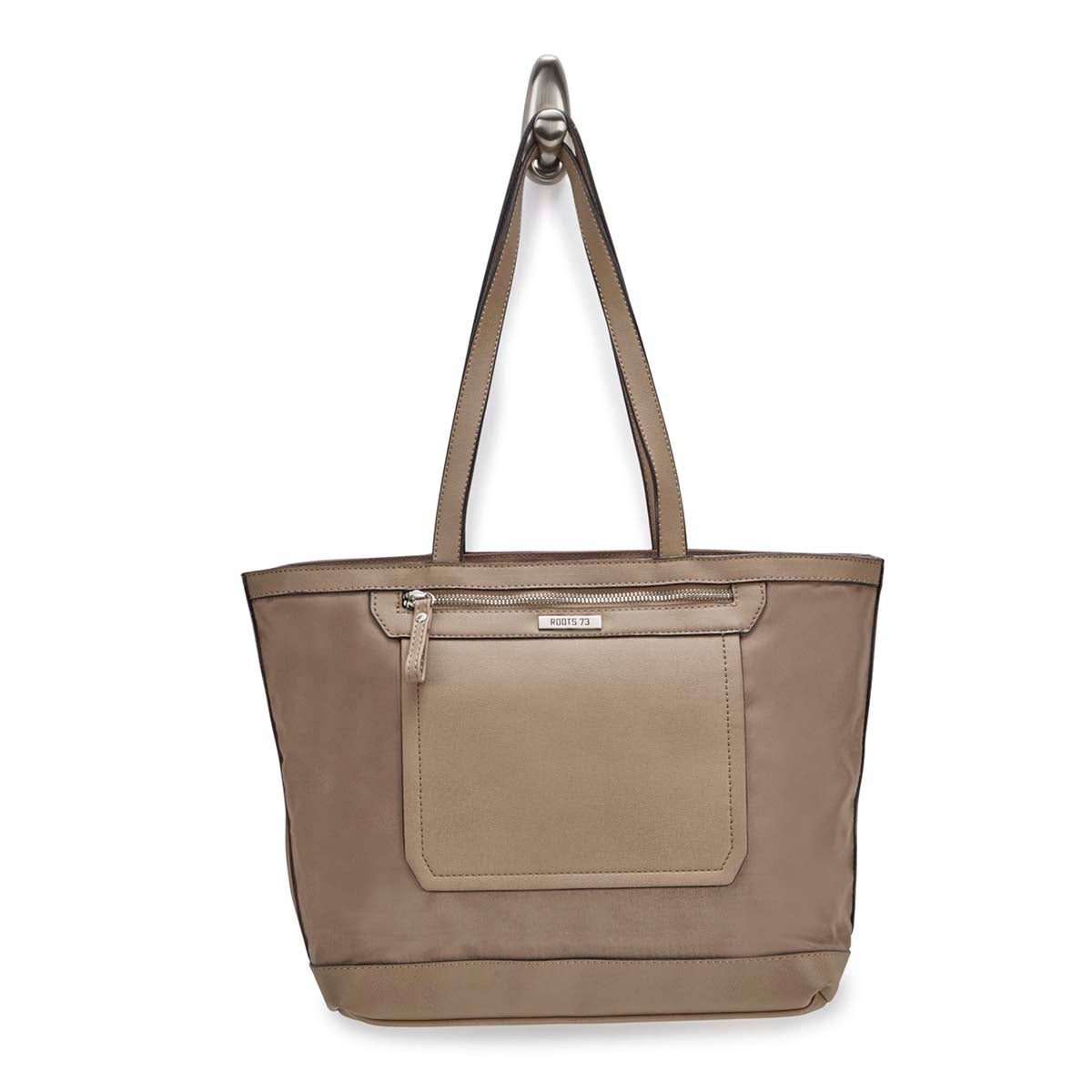 Lds Roots73 mocha pebble large tote bag