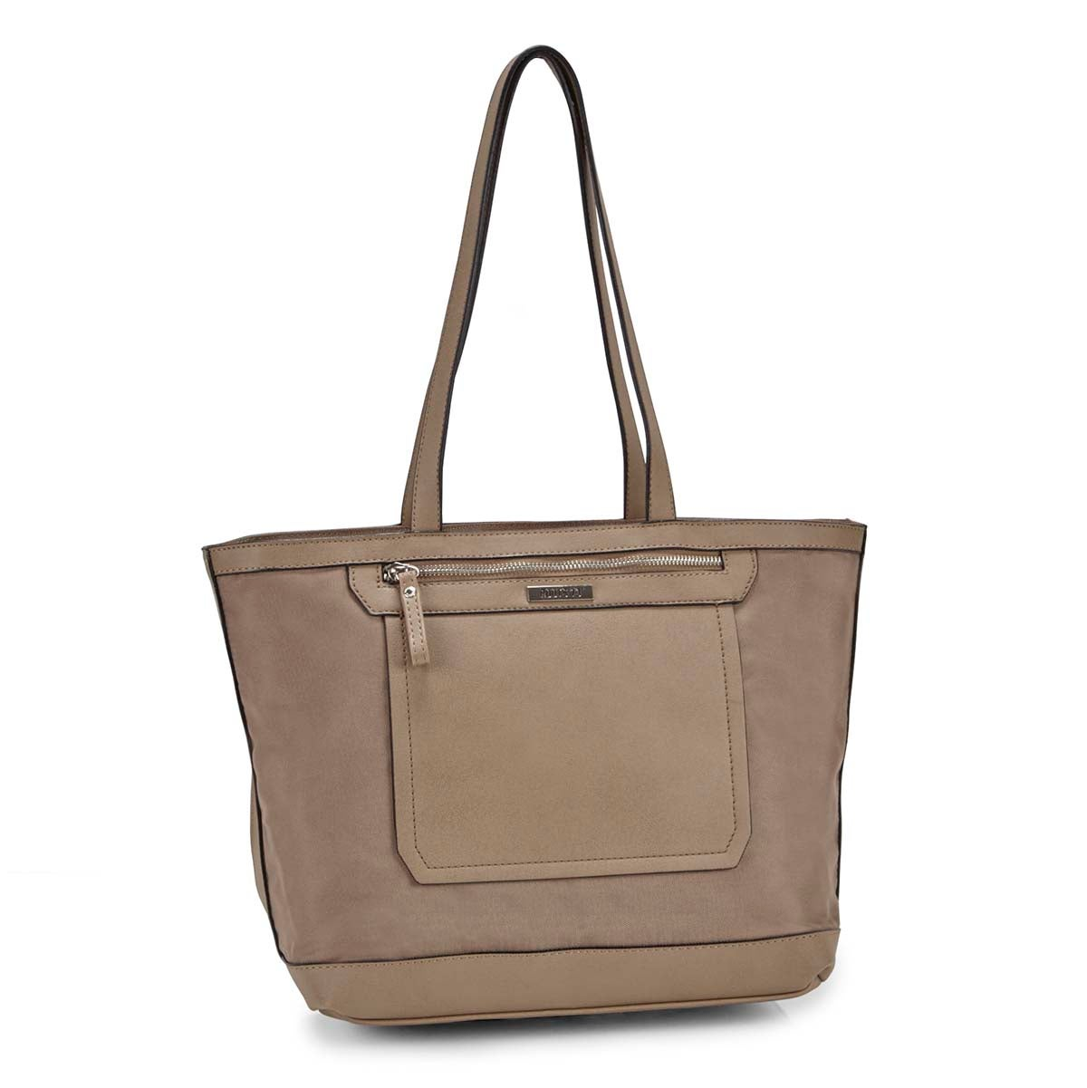 Women's R4869 mocha large tote bag