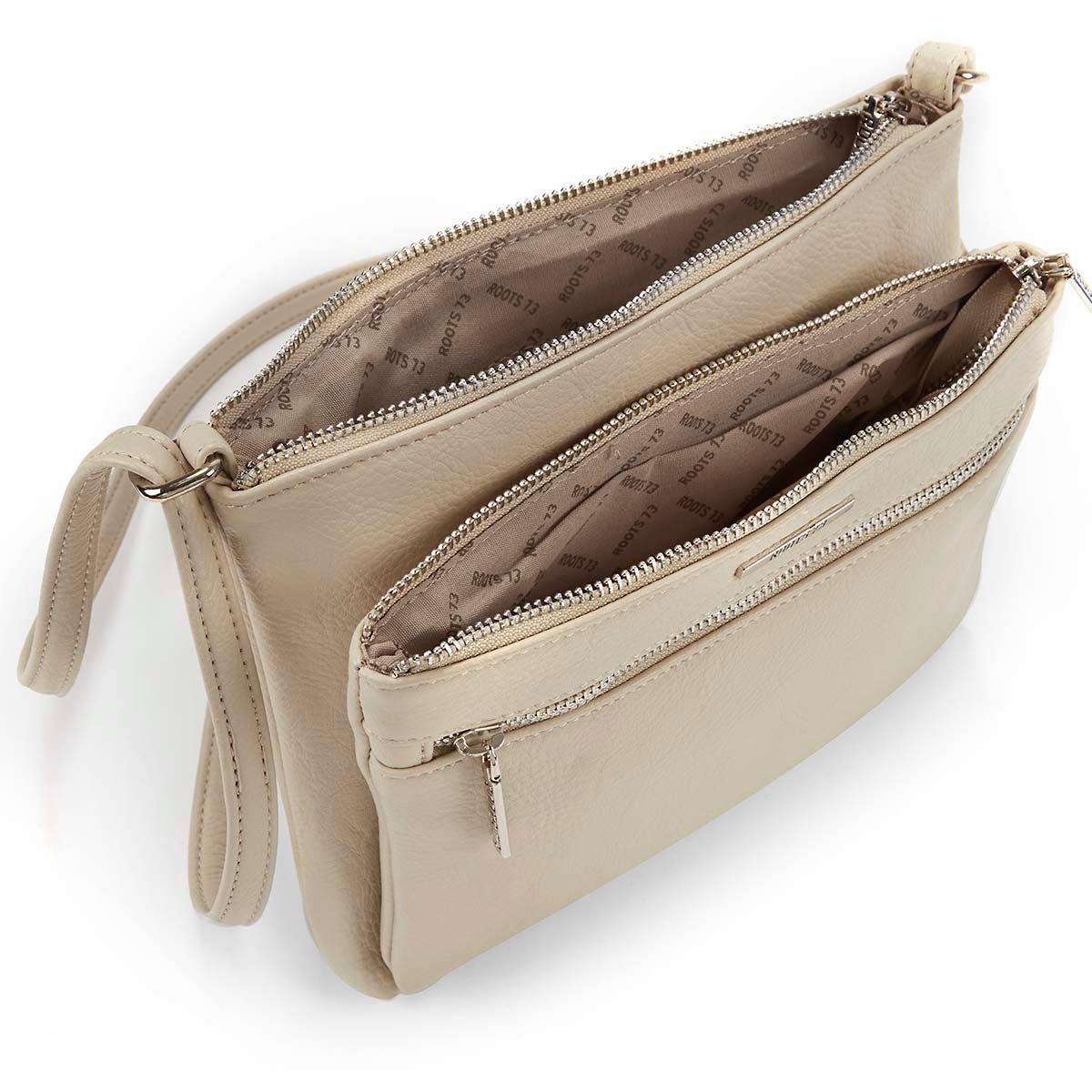 Lds Roots73 bge 3 zipper cross body bag