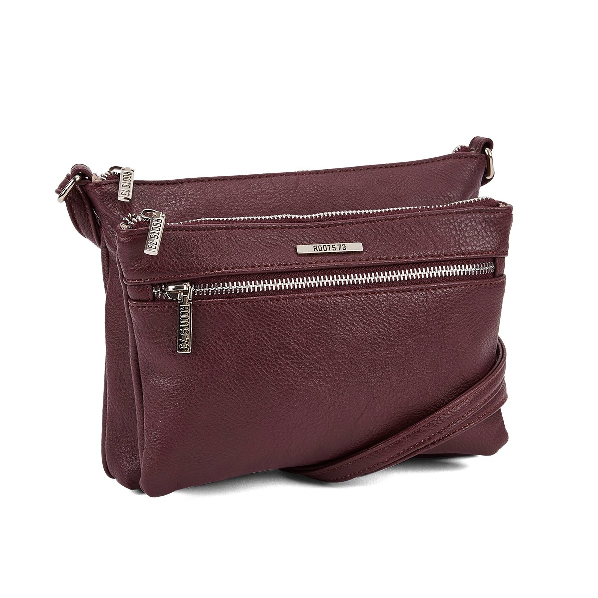 Lds Roots73 bord 3 zipper cross body bag