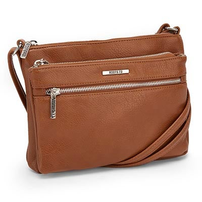 Roots Women's ROOTS73 R4885 cognac cross body bag