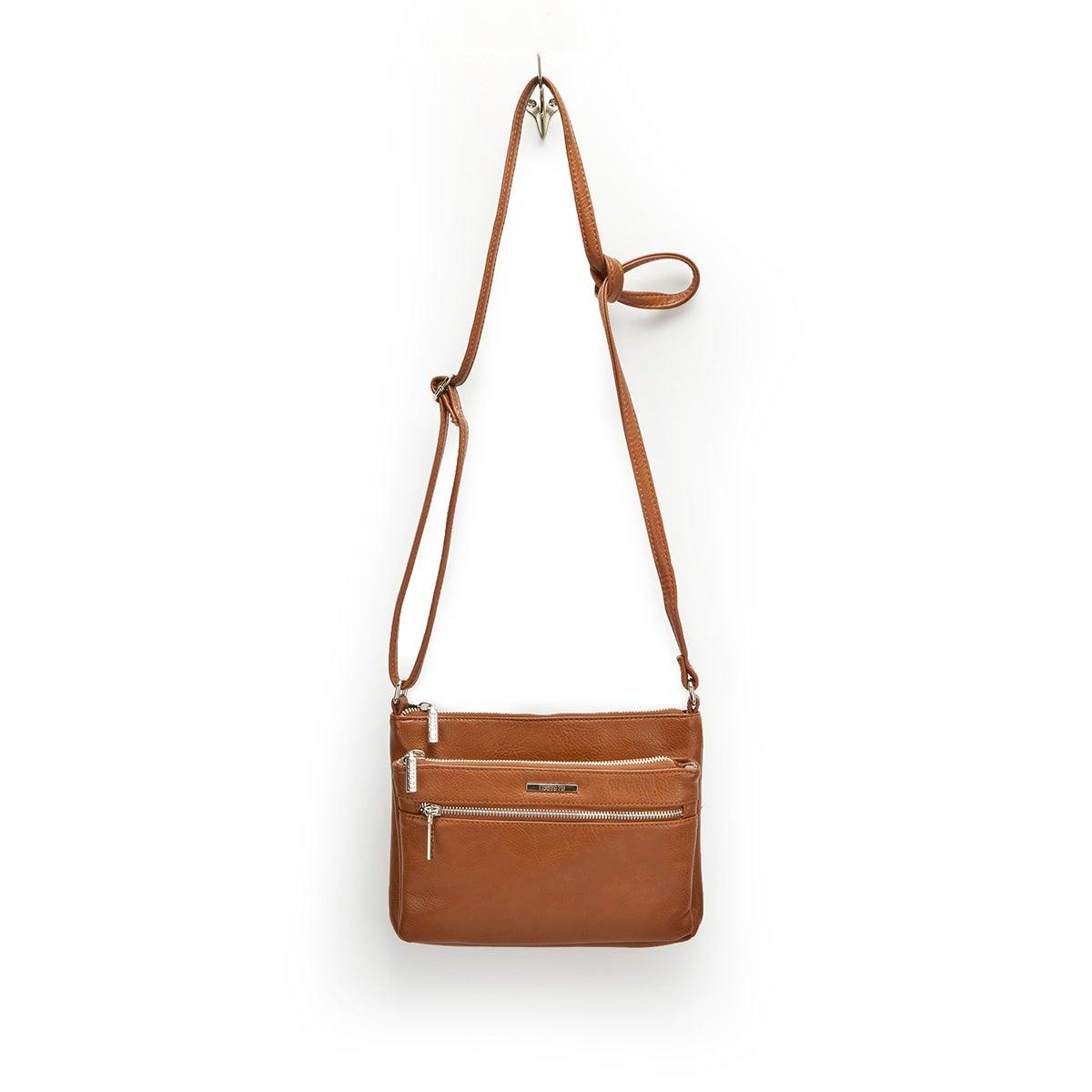Lds Roots73 cgnc 3 zipper cross body bag