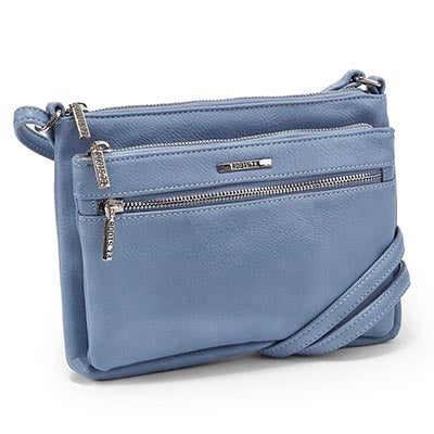 Roots Women's ROOTS73 R4885 light blue cross body bag